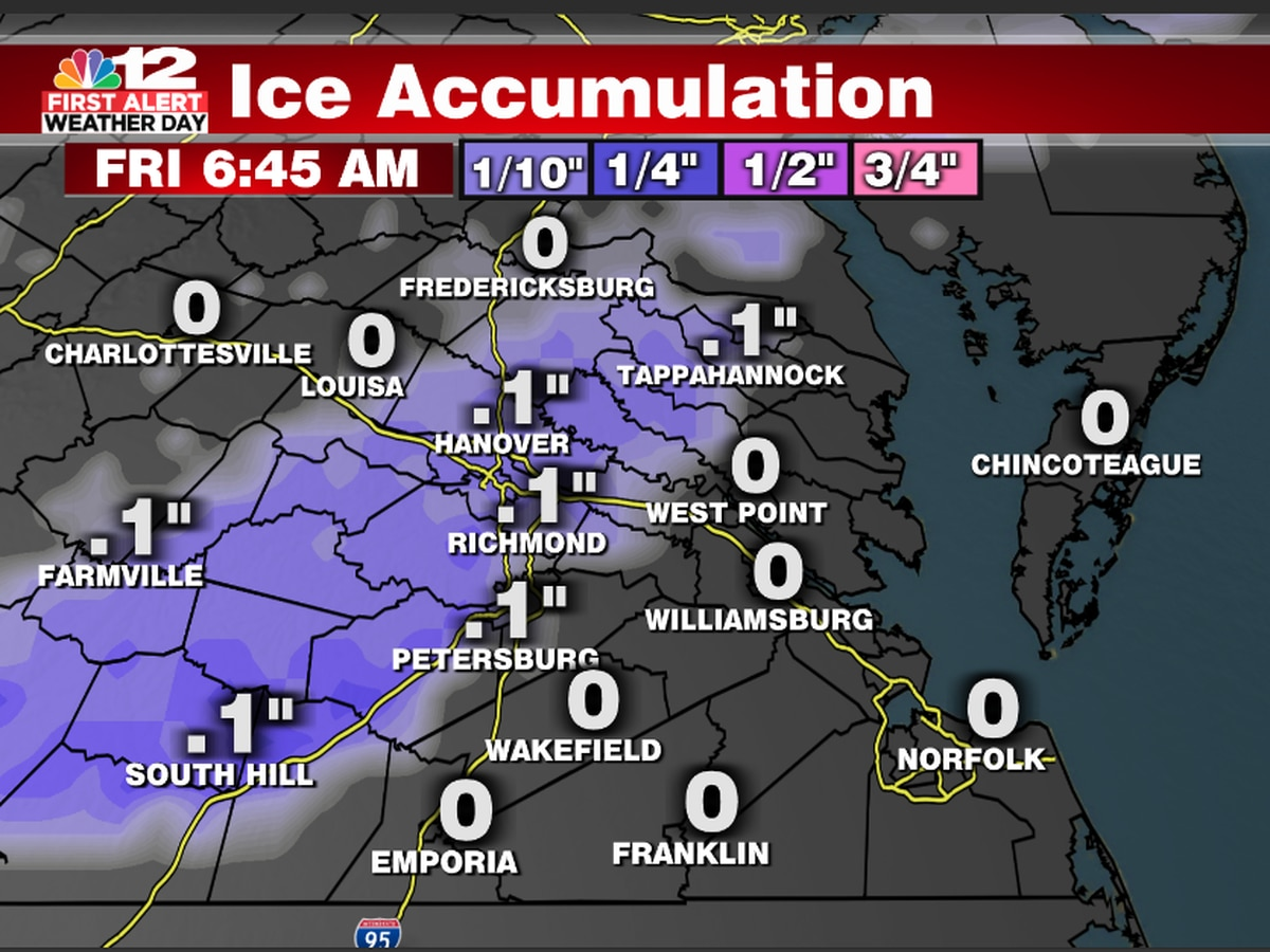 First Alert Weather Day: Icy conditions remain Friday evening