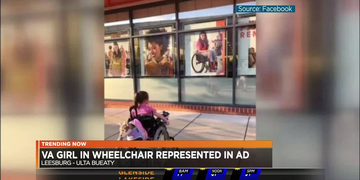 Va. girl in wheelchair represented in ad