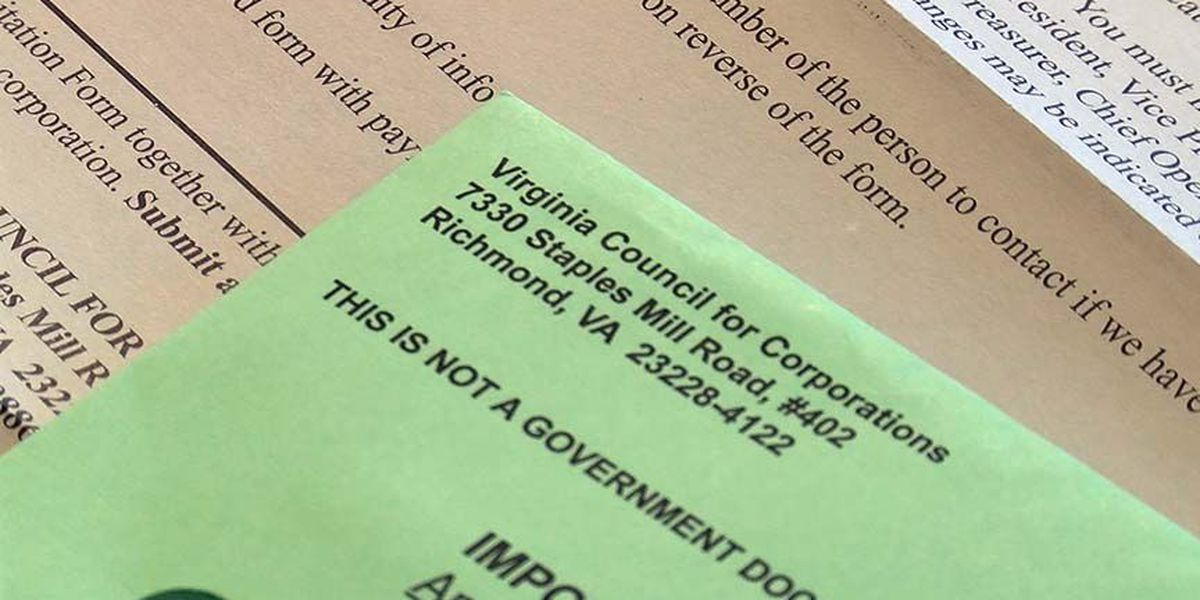 On Your Side Alert: The 'Virginia Council for Corporations' is bogus