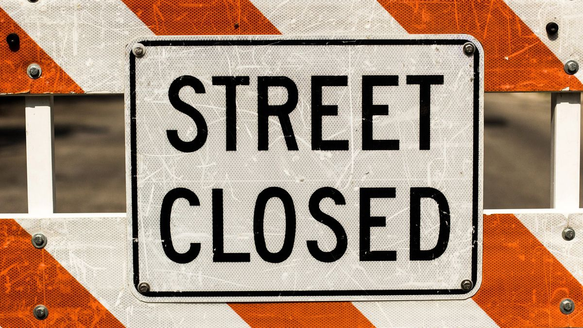 Pedestrian tunnel construction to close section of 9th Street