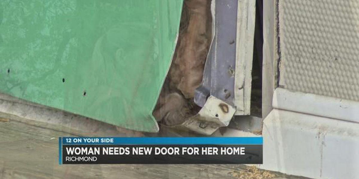 Richmond woman needs new door for trailer home