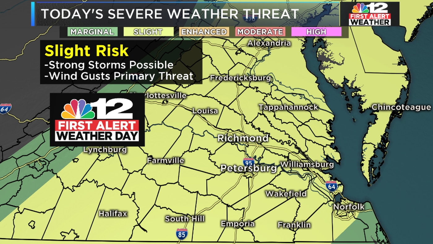 First Alert Weather Day: Storms with damaging winds possible