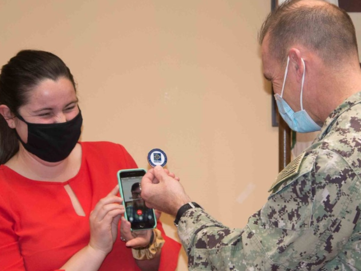 Mechanicsville native presented with Commanding Officer's coin during virtual ceremony in Italy