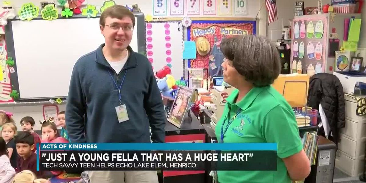 Henrico teen making a difference by volunteering at elementary school