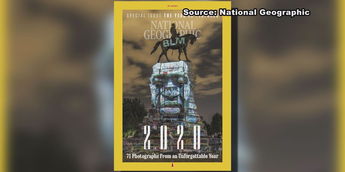 Richmond's graffitied Robert E. Lee monument makes cover of National Geographic