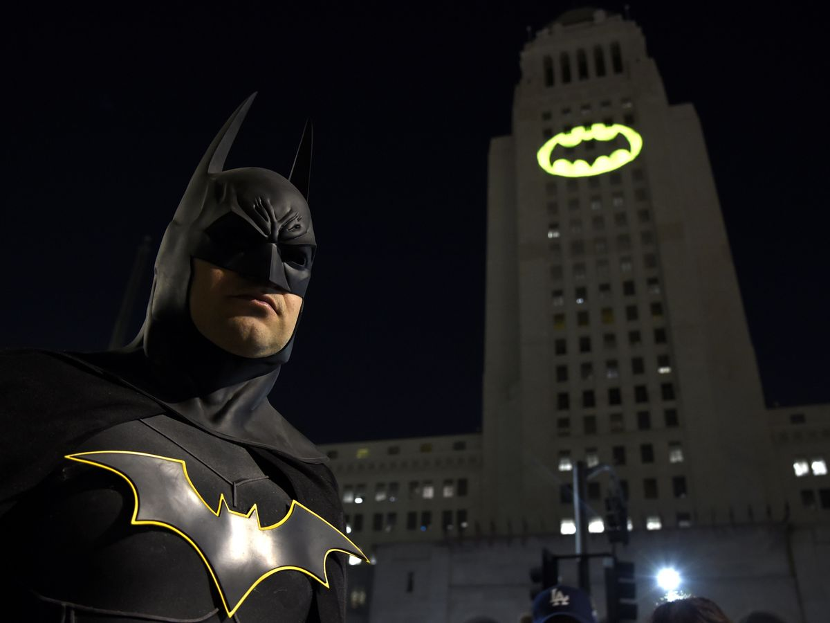 Holy anniversary! Displays of bat signal fete Batman at 80