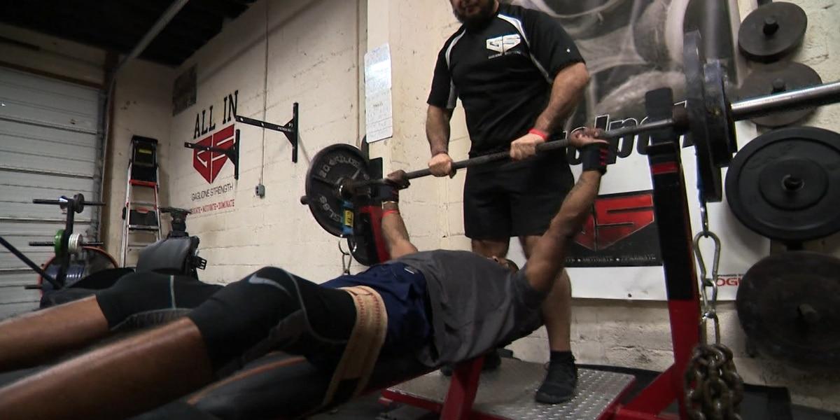 Wheelchair-bound athlete pursues powerlifting dream