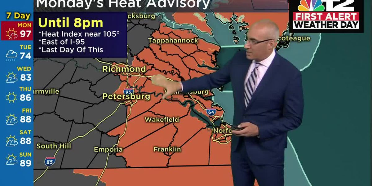 One more hot day; late-day storms possible