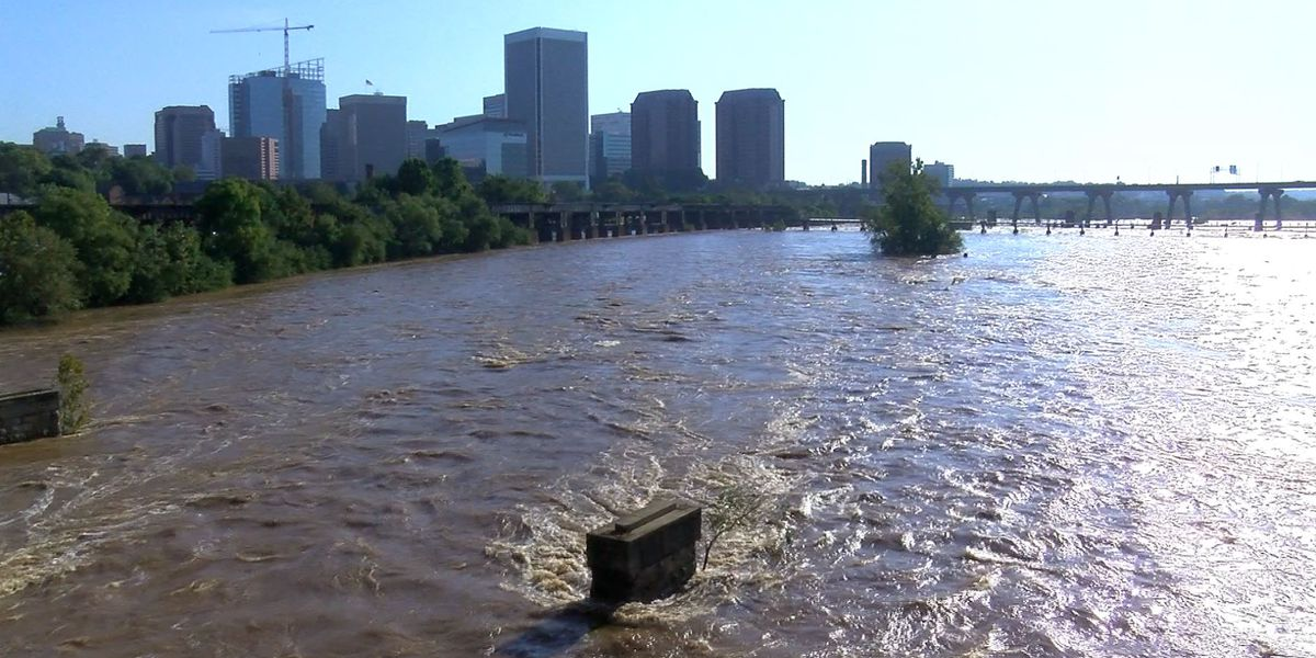 James River 'closed' as moderate flood stage expected