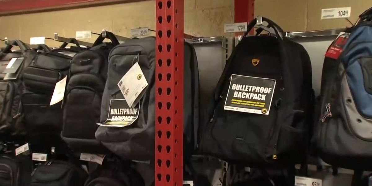 Bulletproof backpack sales spike in California