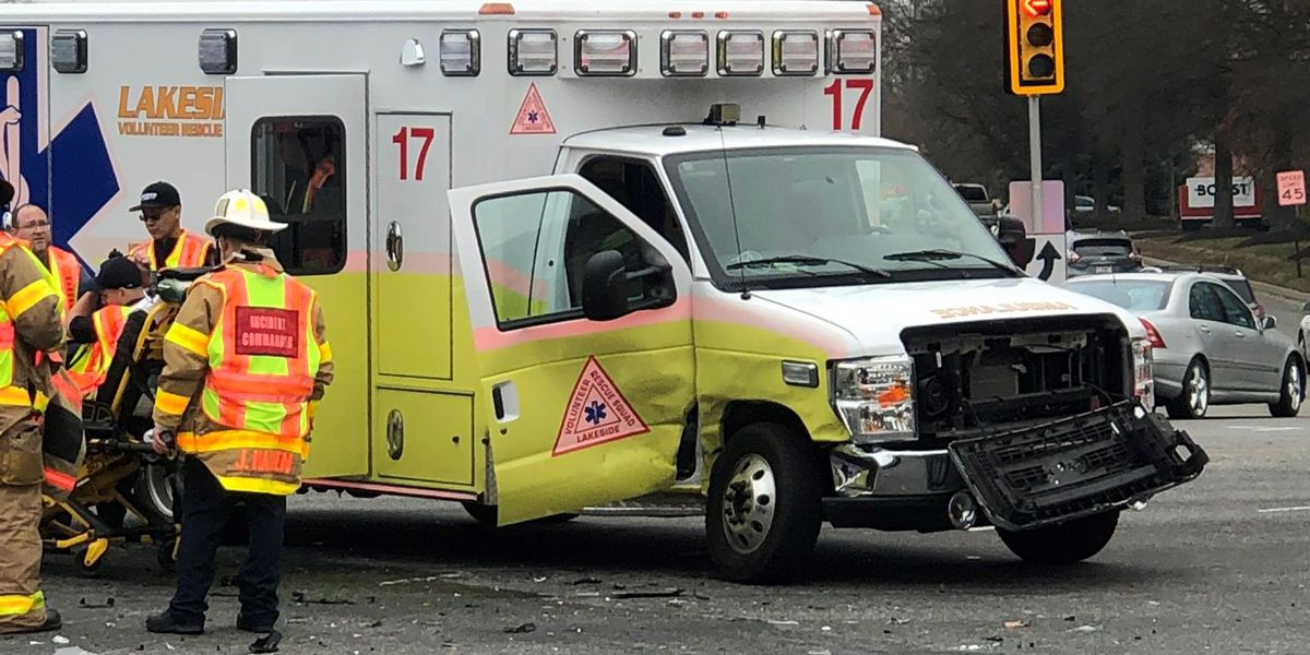 Two injured in crash involving ambulance in Henrico