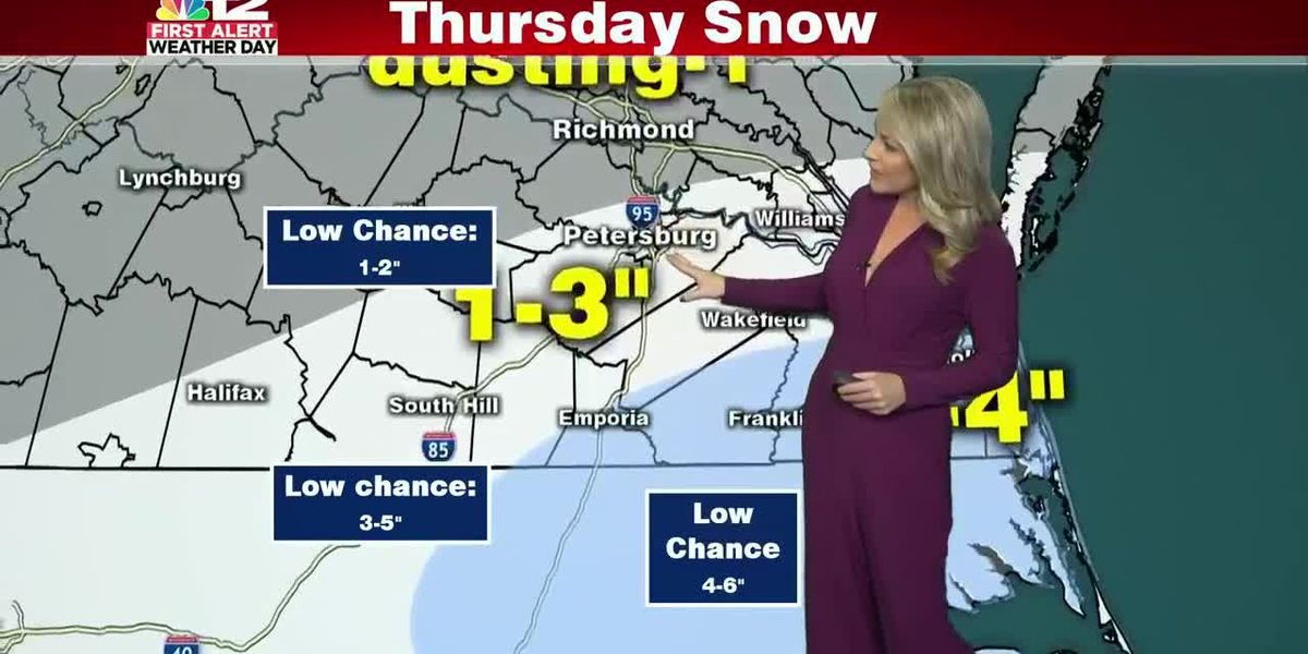 Afternoon and evening snow Thursday