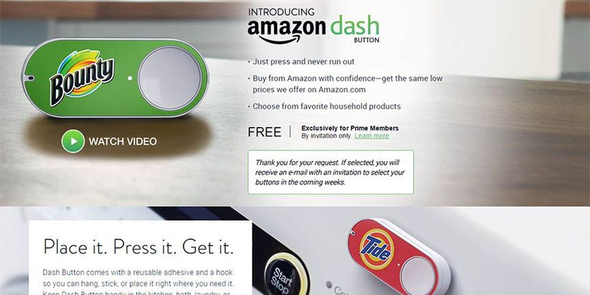 Amazon Dash Button Brings One Click Ordering Home