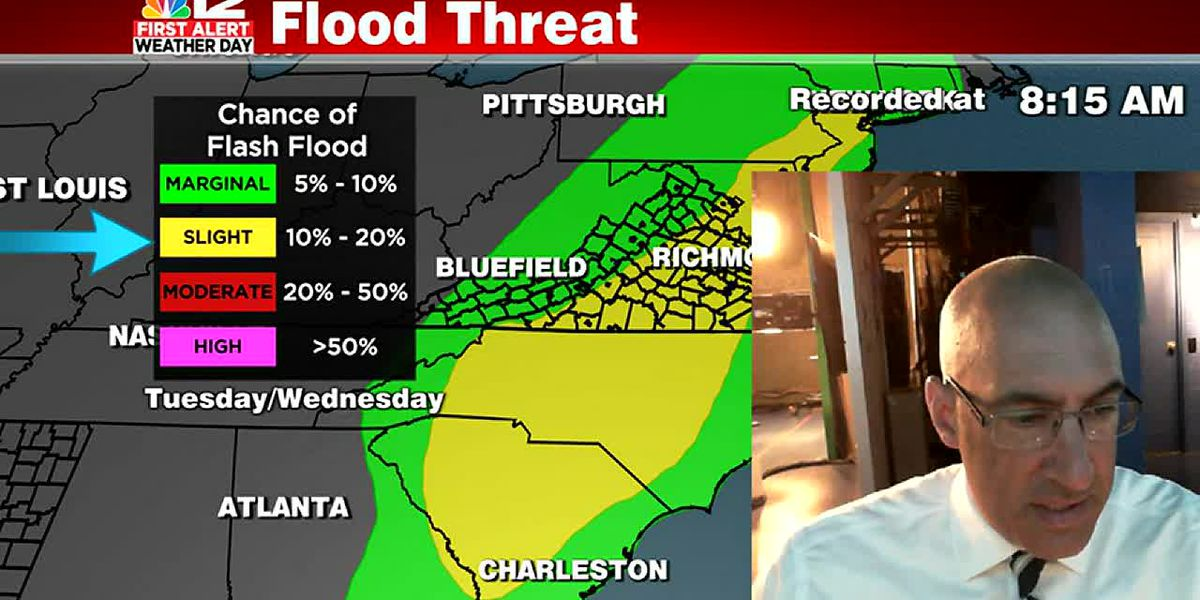 Heavy rain, strong storms possible Tuesday into early Wednesday