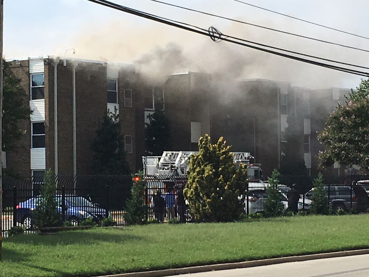 Firefighters respond to blaze at Midlothian Village apartments