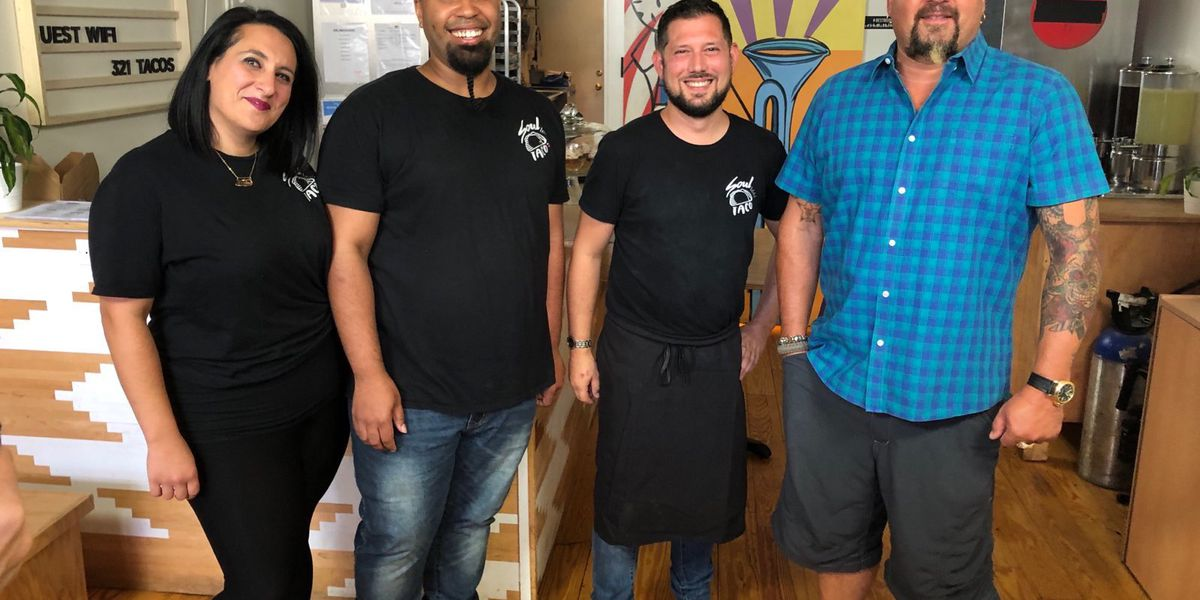 Soul Taco being featured on Food Network's 'Diners, Drive-Ins and Dives'