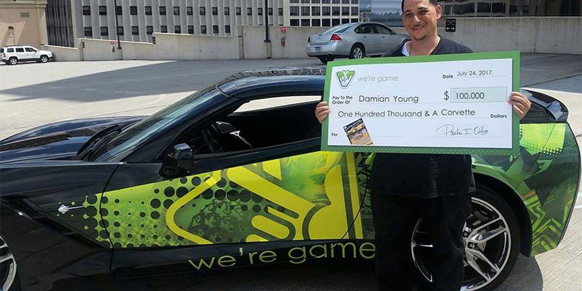 Chesterfield man wins Corvette, $100K in lottery scratcher