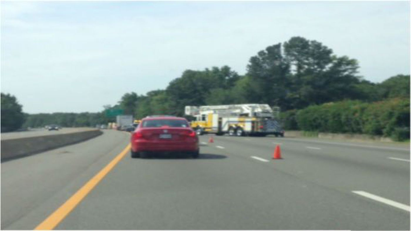 Crash on I-95 South in Chesterfield sends one to the hospital