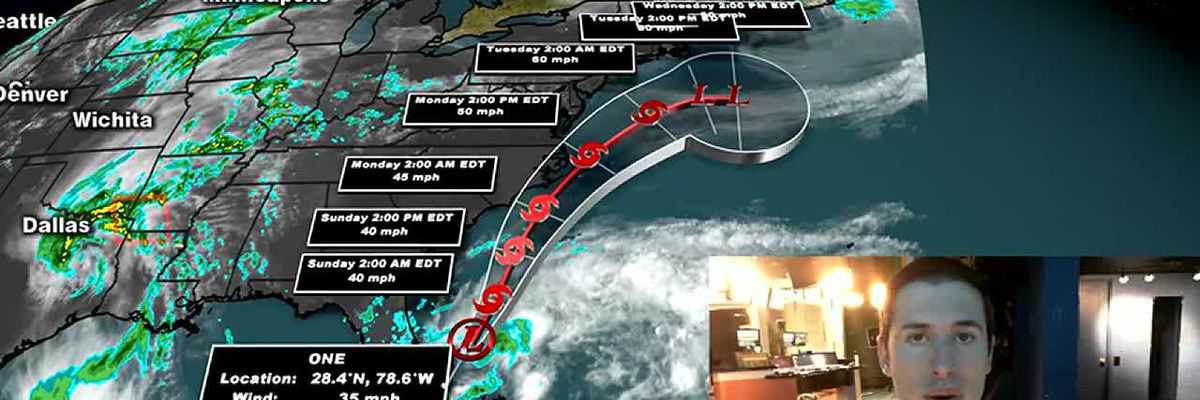 Tropical depression forms off Florida coast, likely to become Arthur