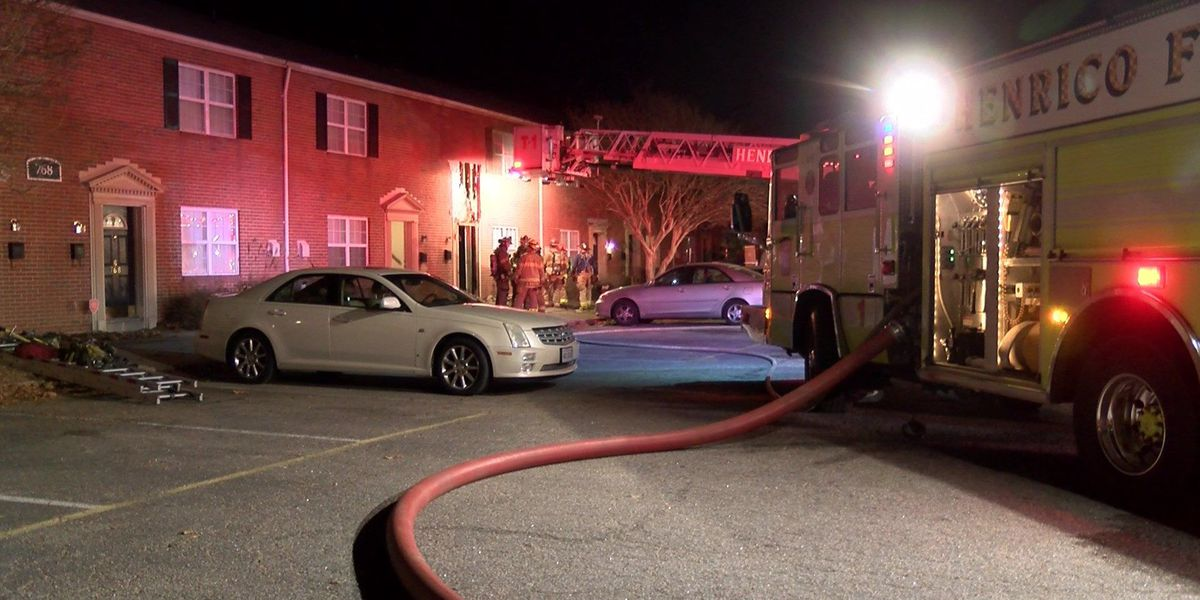 2 adults, 1 child displaced after fire at townhome near Henrico HS