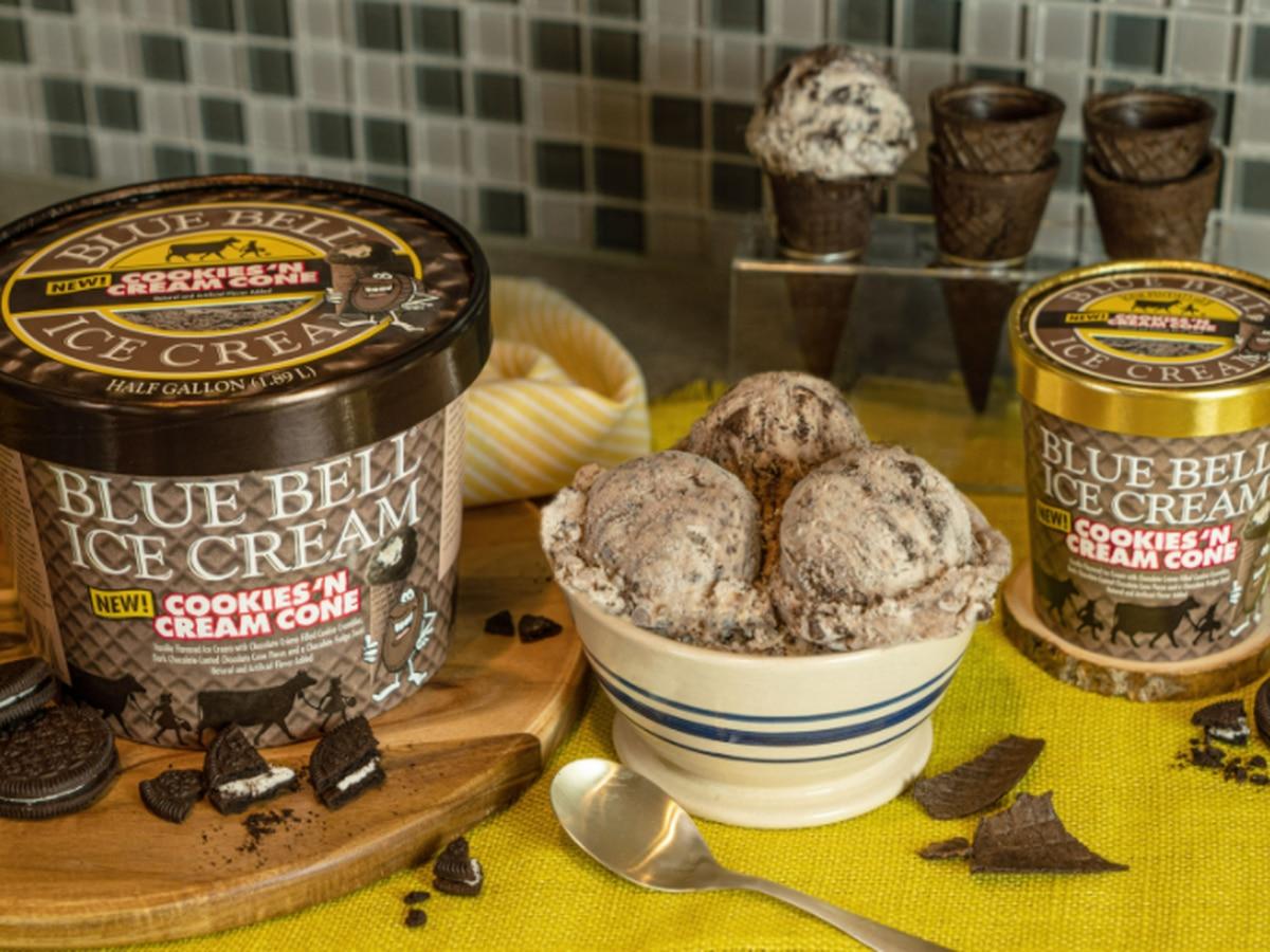 Blue Bell debuts new Cookies 'n Cream Cone flavor