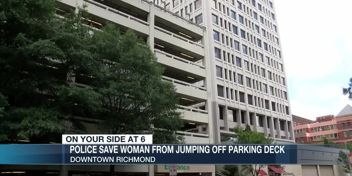 Richmond officers save woman from jumping off parking deck