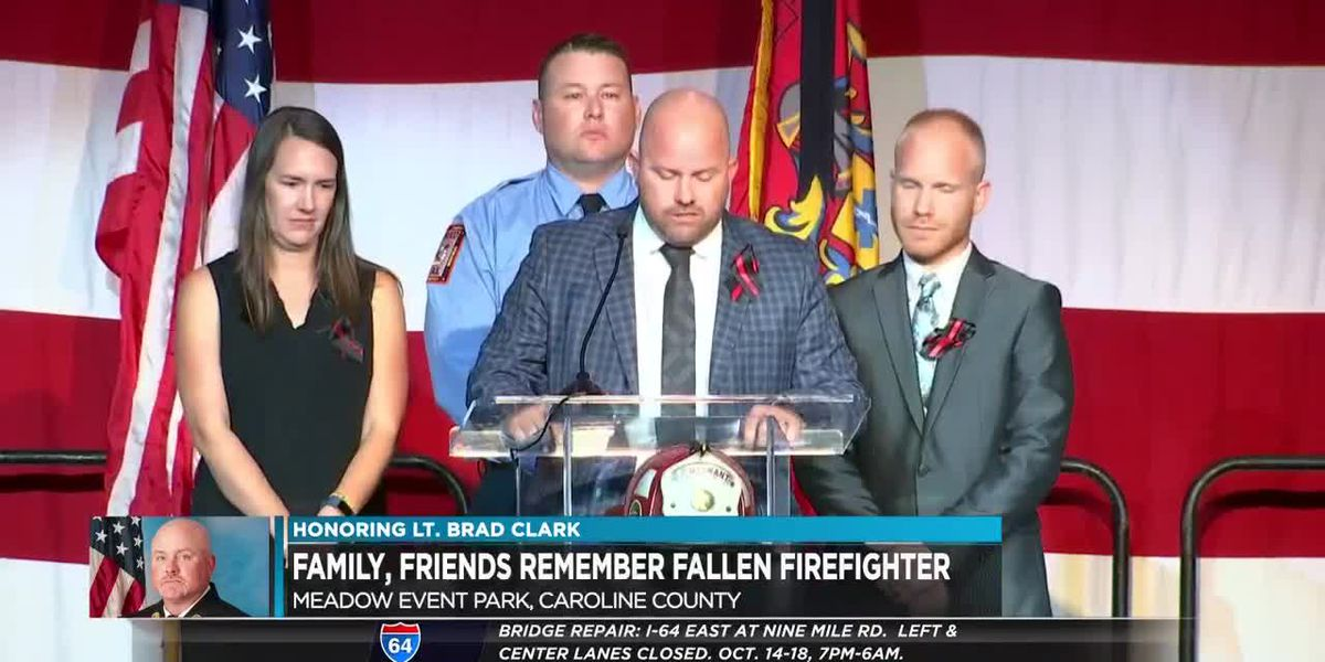 Fallen firefighter given emotional tribute
