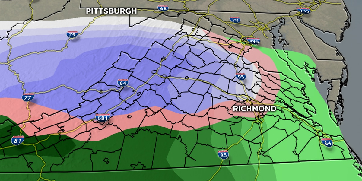First Alert: Wintry mix changes to rain for Wednesday afternoon