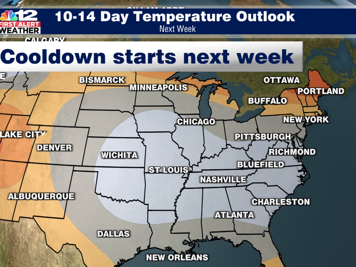 After warm weather this week, pattern could turn cooler for Virginia