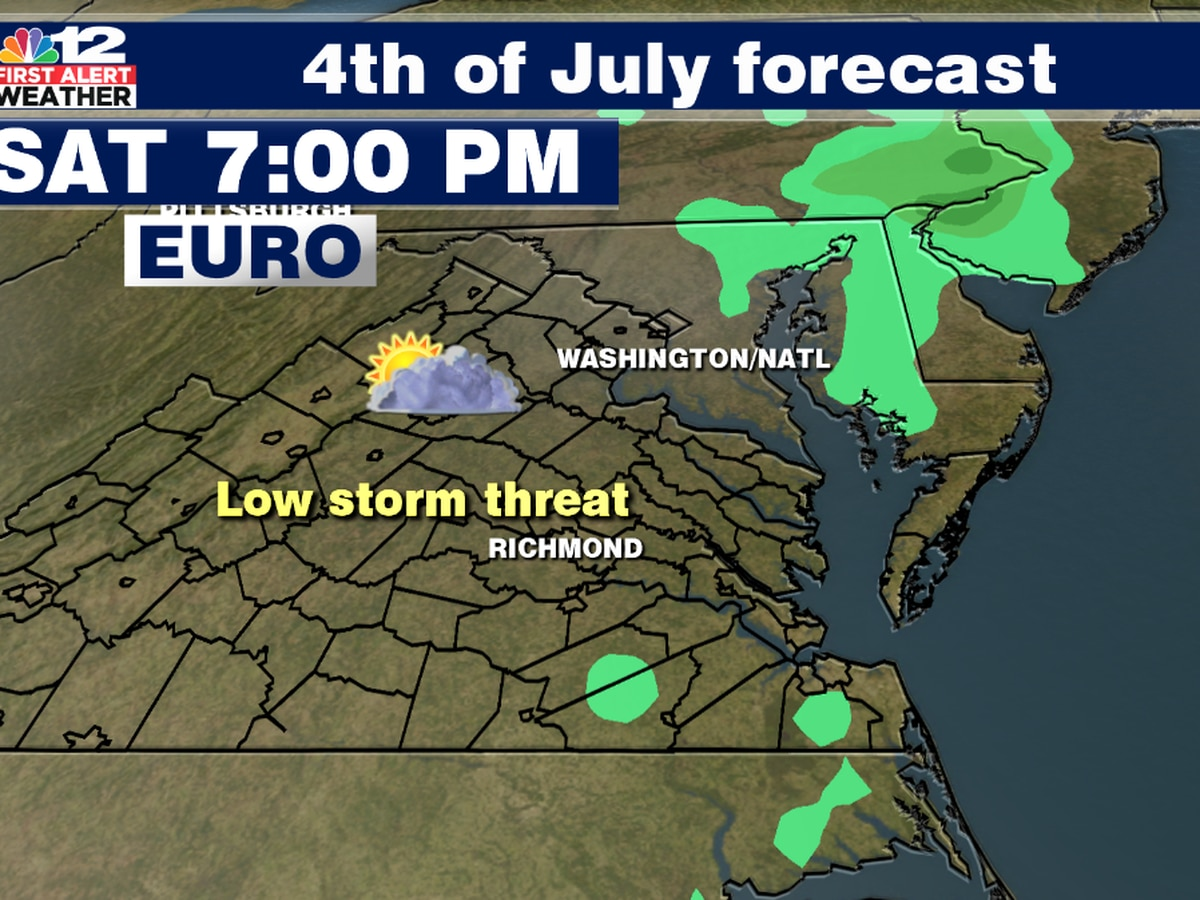 Fourth of July forecast: Hot, isolated storm chances