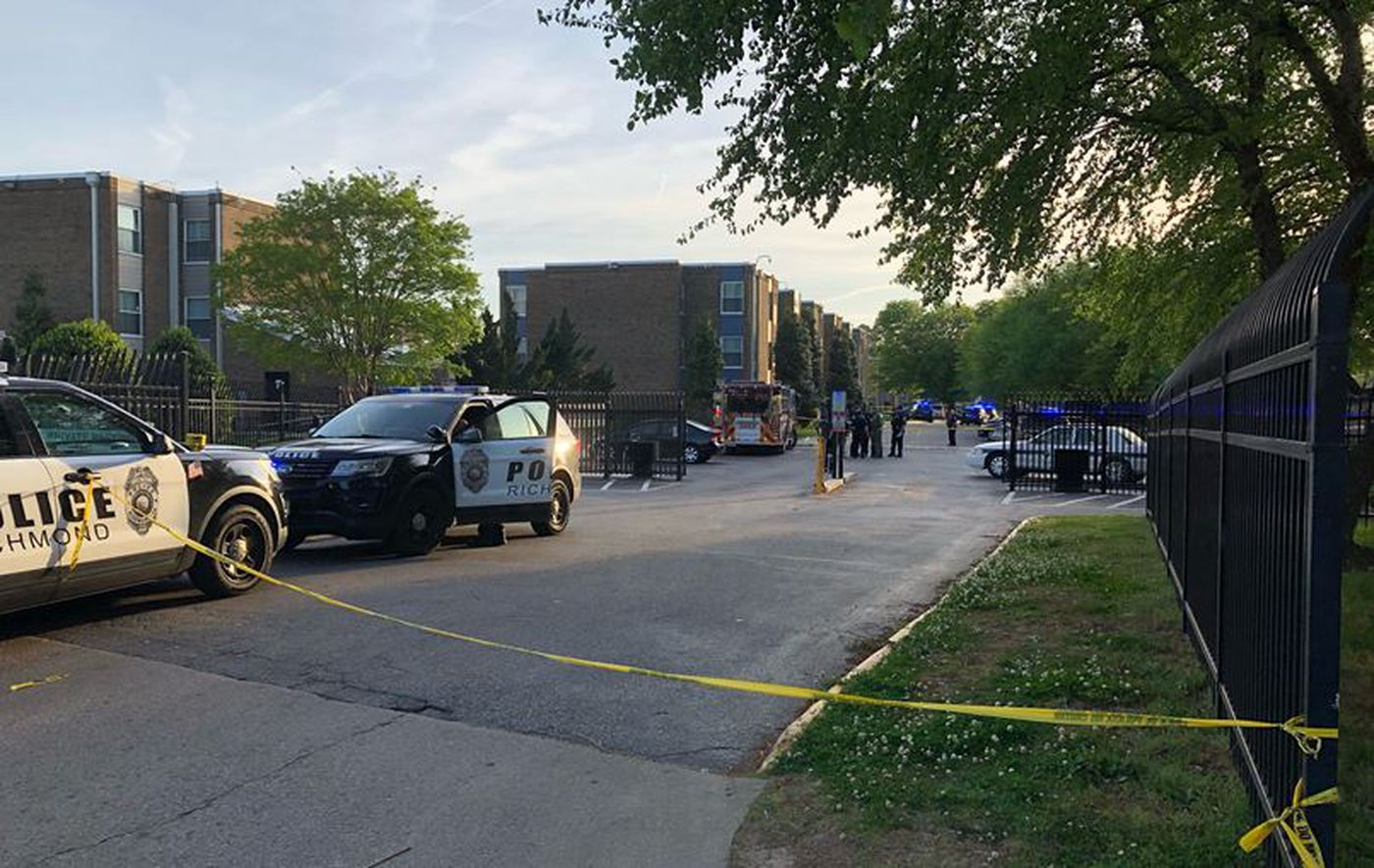 Richmond police were called to the shooting at the The Belt Atlantic apartments Tuesday evening.