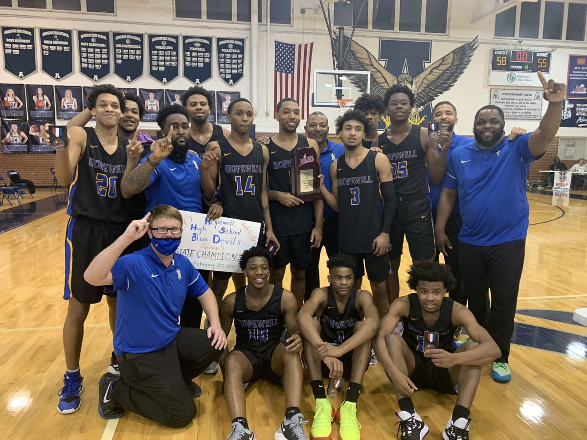 Hopewell claims first boys basketball state title since 1972
