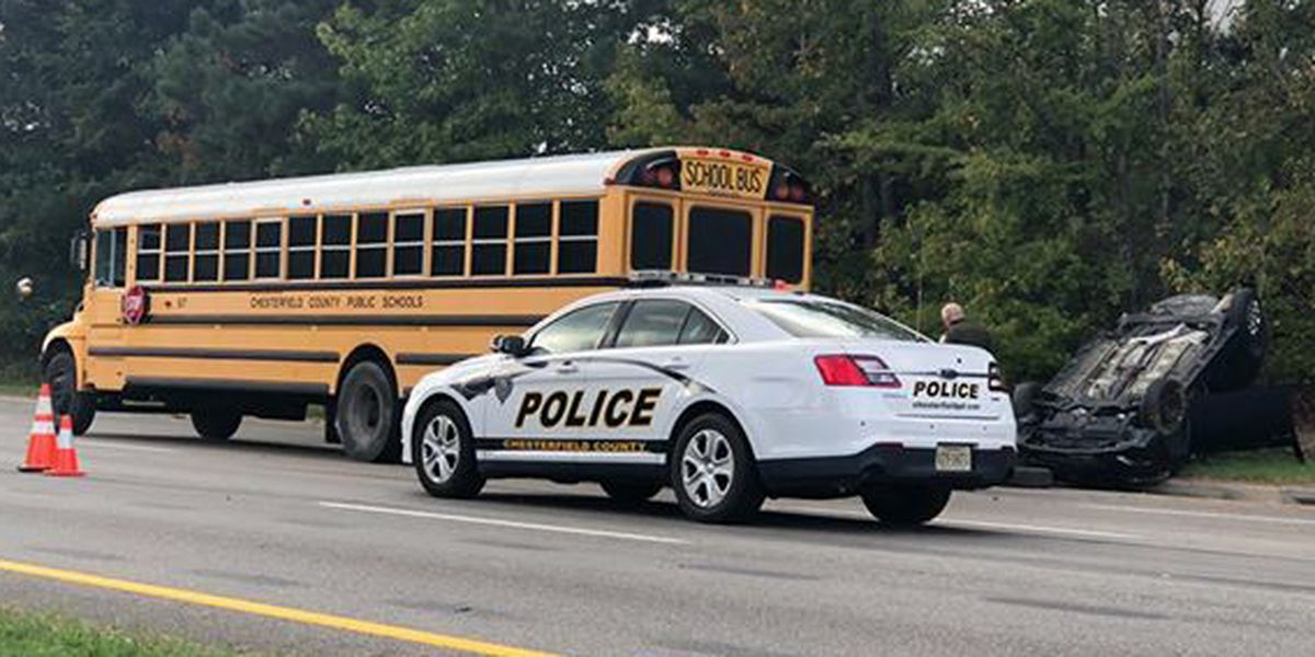 School bus involved in 3-vehicle crash in Chesterfield