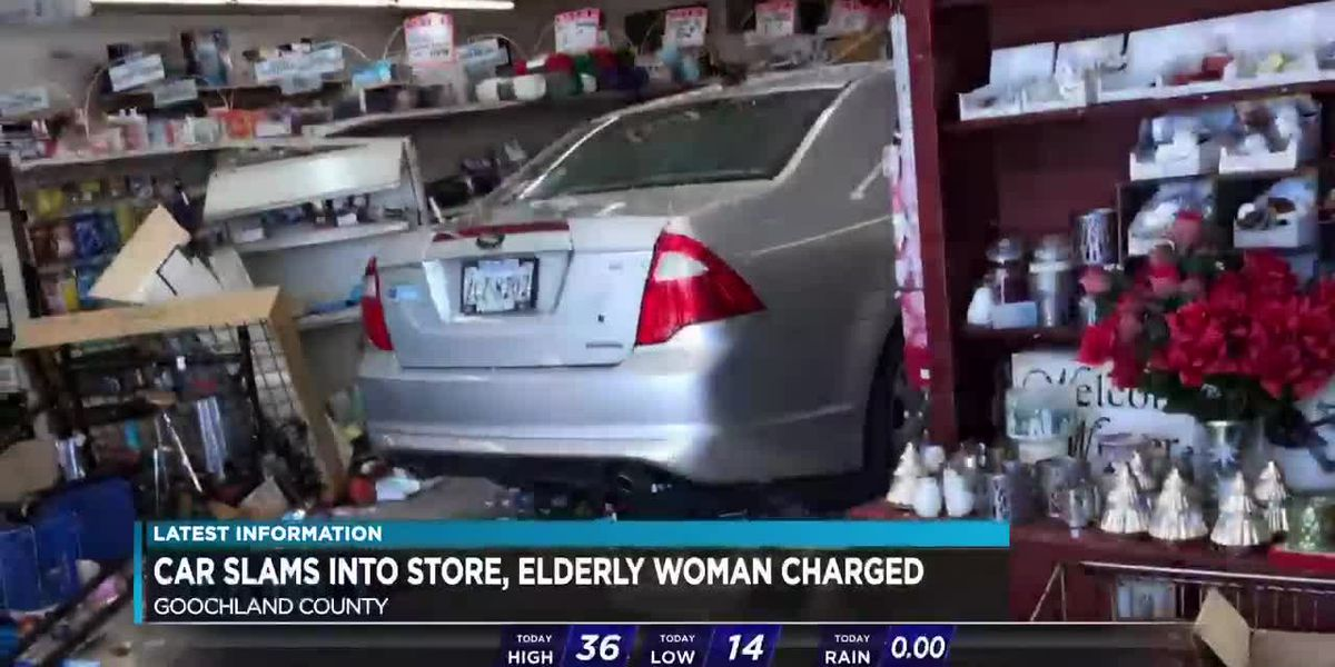 Video shows car slamming into pharmacy