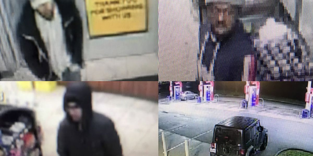 Three suspects sought in larceny at convenience store