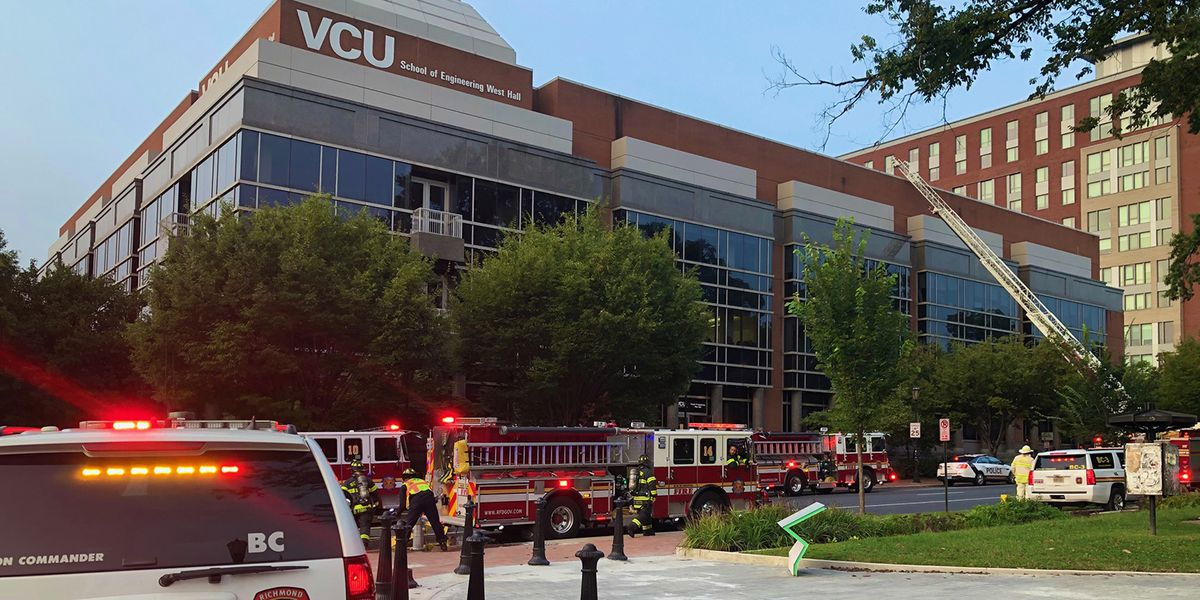 Crews respond to report of fire at VCU campus