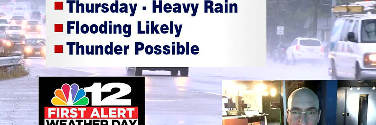Flooding and thunderstorms likely Thursday into Friday