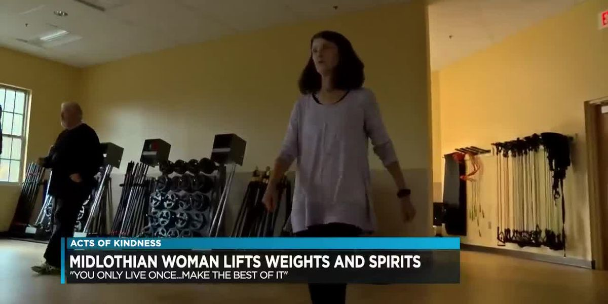 Chesterfield County woman lifting weights and spirits
