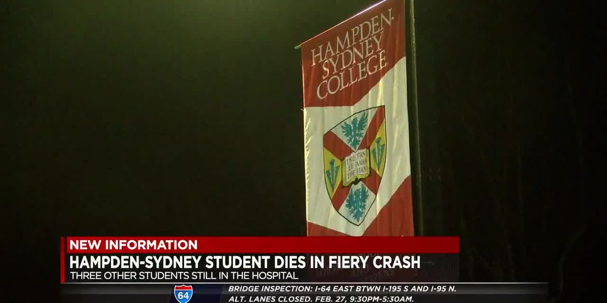 Hampden-Sydney student dies in fiery crash