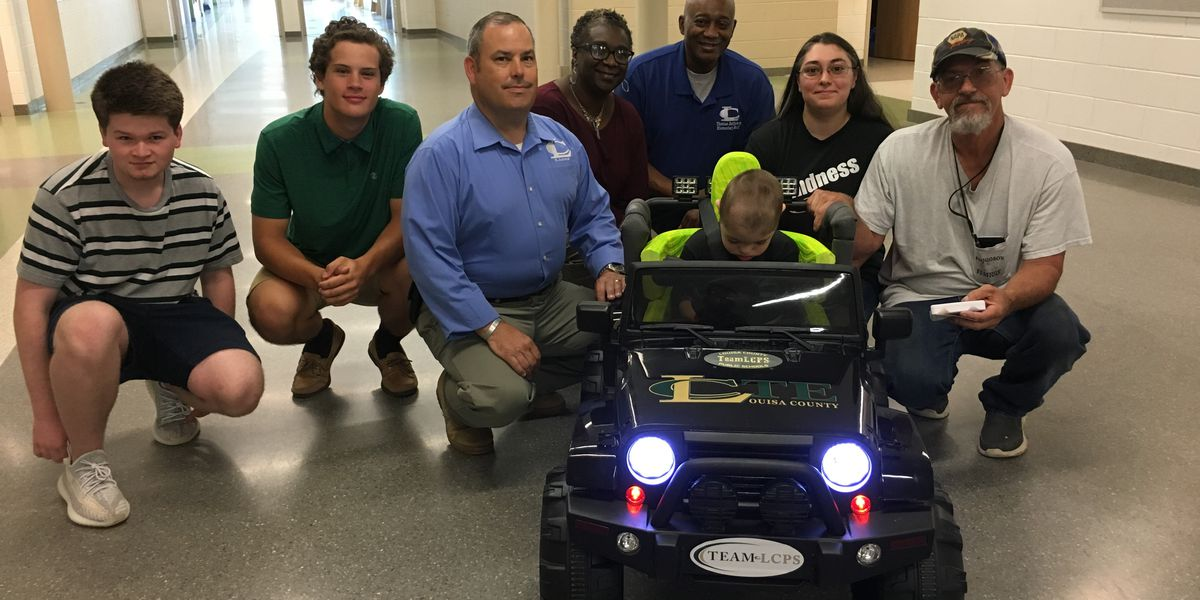 5-year old receives custom go-cart from Louisa County Public Schools