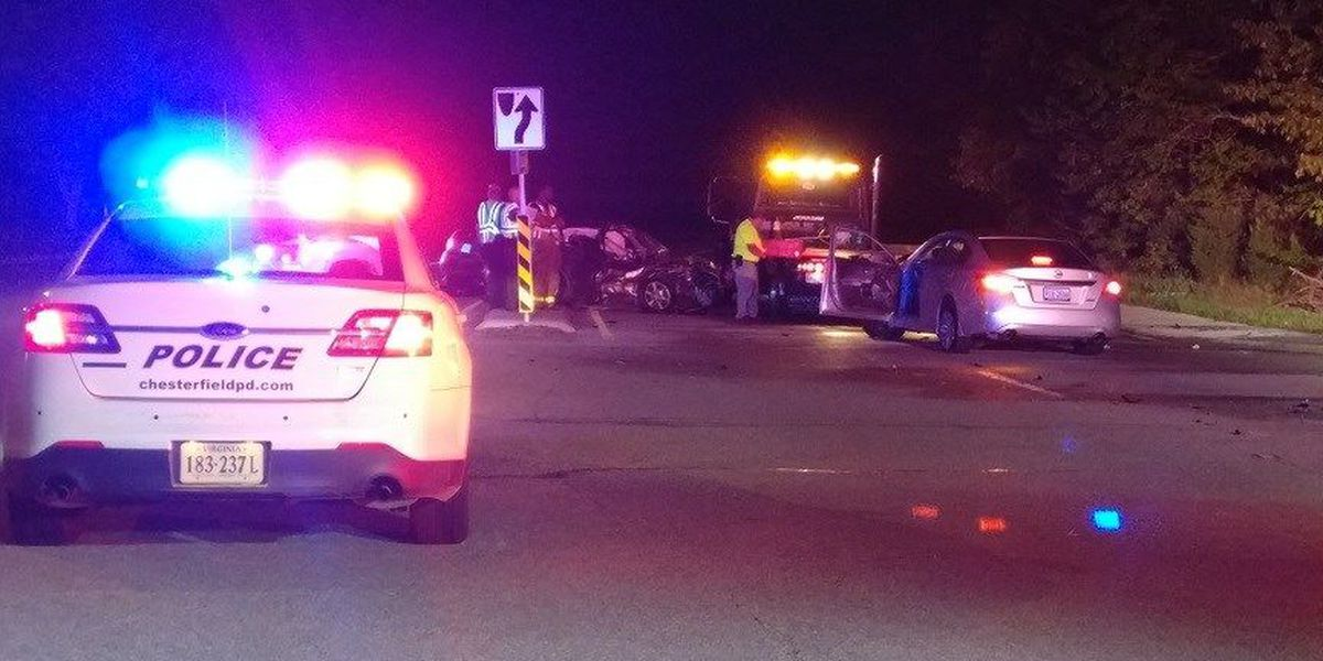 Accident sends two drivers to the hospital in Chesterfield