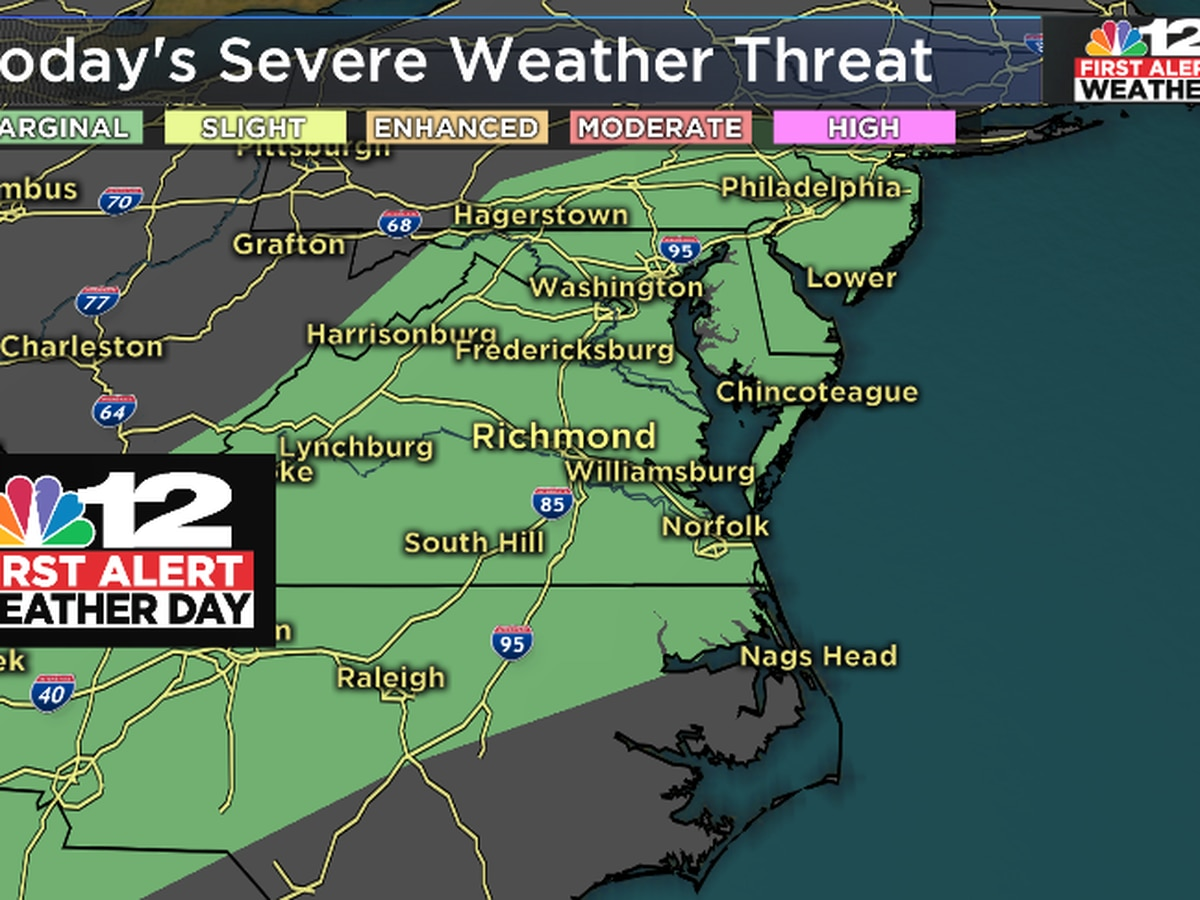 First Alert Weather Days Tuesday and Thursday: Severe storms possible