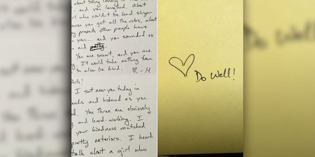 Author, mom gives 'horribly behaved' girls note at Starbucks