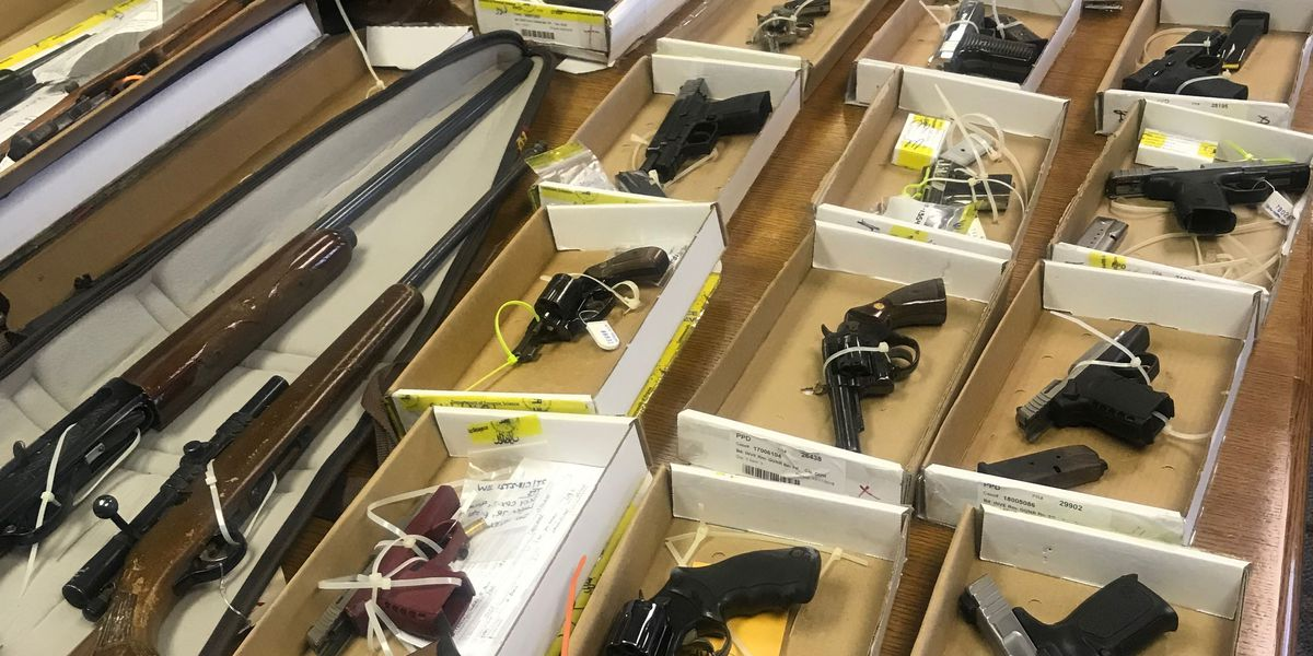 Petersburg police: Nearly 300 guns taken off the streets in 2018