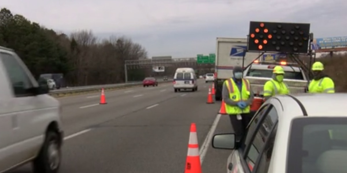 Debris causes backups on I-64 in Richmond