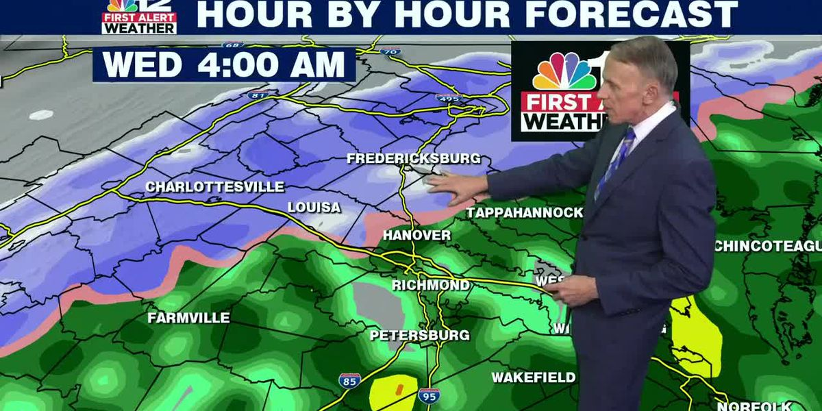 Forecast: Warm to start the week, then some snow possible early Wednesday