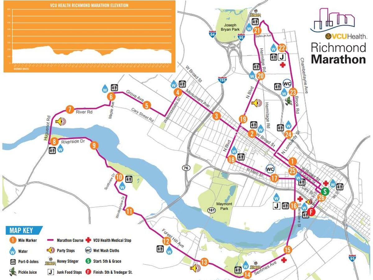 Parking zones, closures announced for Richmond Marathon
