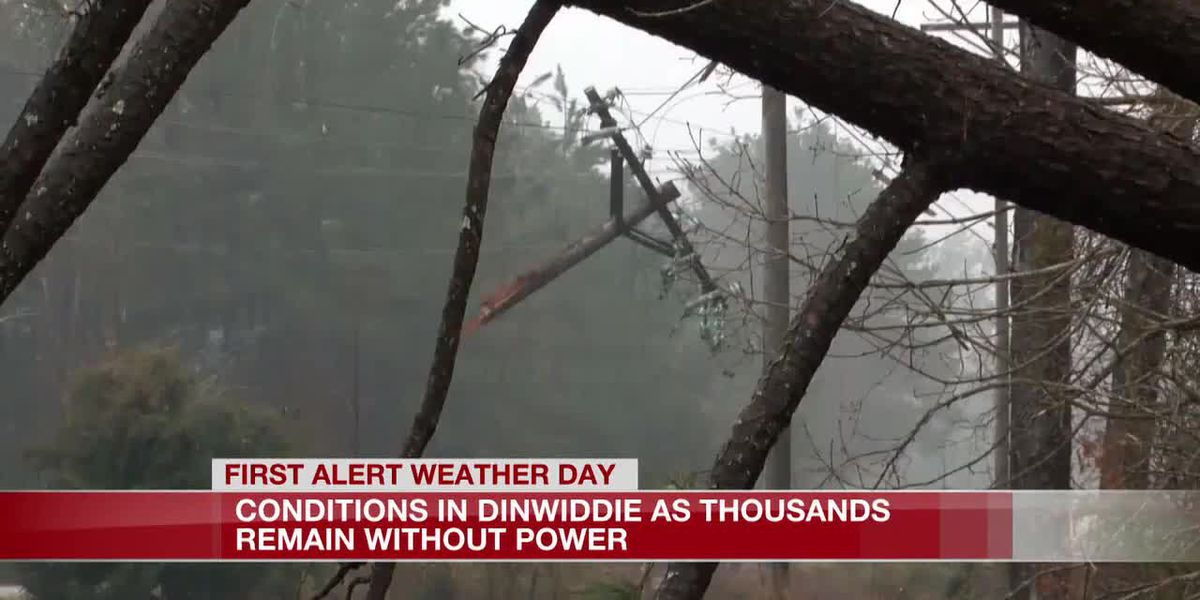 Thousands remain without power in Dinwiddie