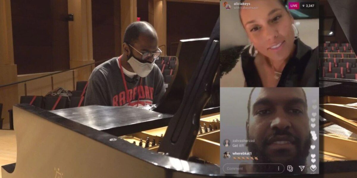 Alicia Keys picks a Radford University student to play for her on Instagram Live