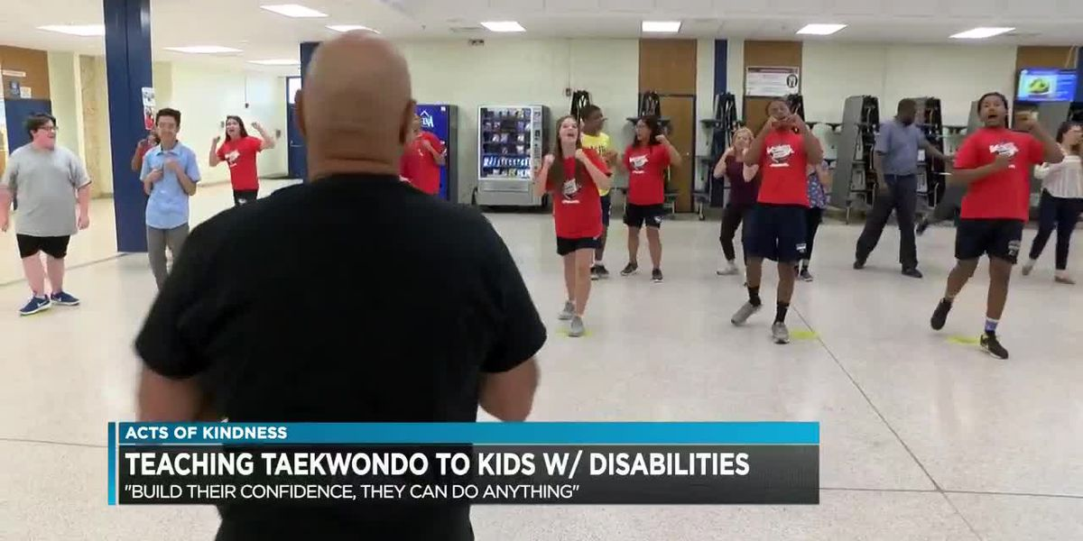 Teaching taekwondo to kids with disabilities